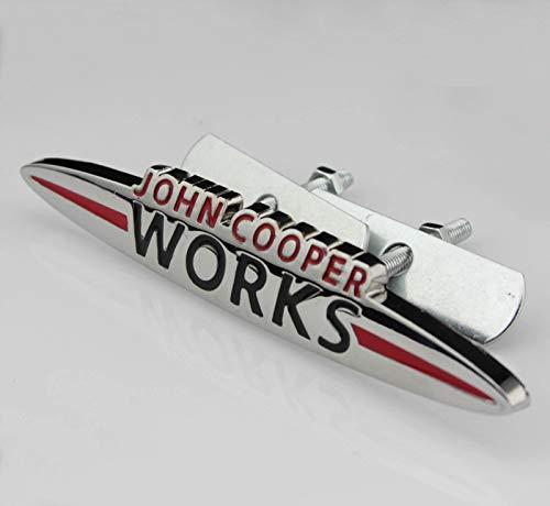 mächtig Chrom John Cooper Works 120 mm x 20 mm Metall Fronthaube Grill Abzeichen Aufkleber Abzeichen…