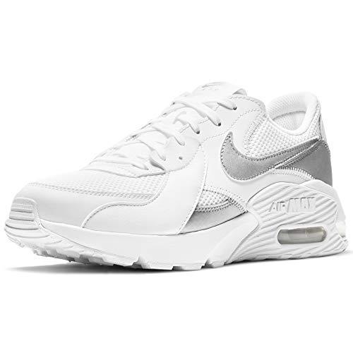 Nike Wmns Air MAX EXCEE, Zapatillas para Correr Mujer, White Mtlc Silver, 38 EU