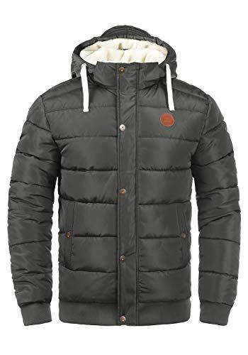 Blend Frederico Herren Winterjacke Steppjacke warme Jacke gefüttert mit Kapuze, Größe:XL, Farbe:Phantom Grey (70010)