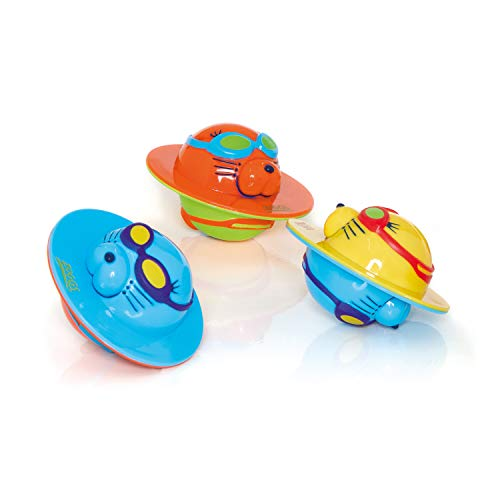 Zoggs Kid's Seal Flips Pool Water Toy, Multicolour, 3 pack