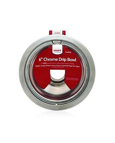 Smart Choice L304430992 6' Chrome, Fits Most Brands Drip Bowl