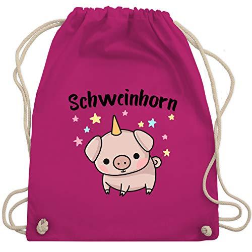 Shirtracer Karneval & Fasching Kinder - Schweinhorn - Unisize - Fuchsia - kinder-fasching - WM110 - Turnbeutel und Stoffbeutel aus Baumwolle
