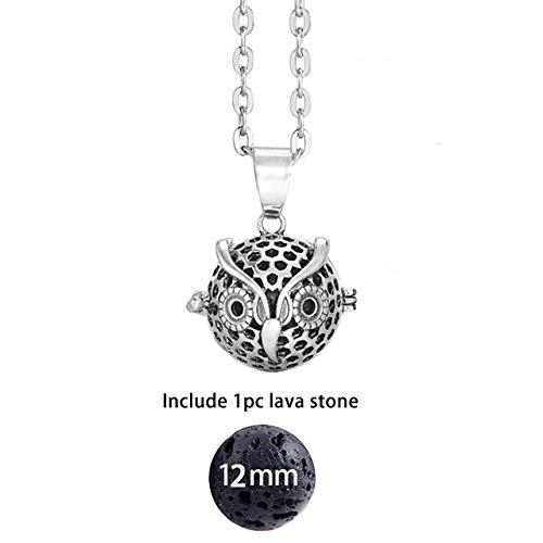 SUNMM Fühlte Mich Ball Schmelzen Rock Aromatherapie Lichtdiffusion Halskette Charme Parfüm Ätherisches Öl Anhänger Halskette, 15,70 cm