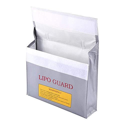 Bolso de plata de la caja fuerte de la batería, hecho del bolso seguro de carga de Lipo de la batería de Lipo de la fibra de vidrio Lipo