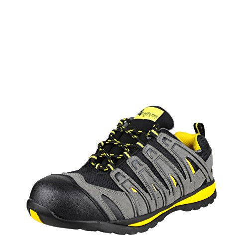 Amblers Safety Mens FS42C Metal Free Lace Up Safety Trainer Black Size UK 9 EU 43