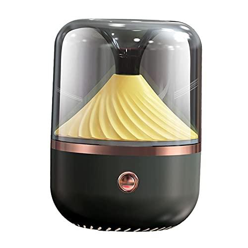 MagiDeal Humidificador 120ml Humidificador de Niebla fría Humidificador de Aire Humidificador ultrasónico silencioso con luz Nocturna, Humidificador de - Negro