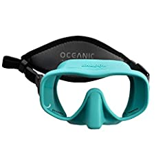 Frameless design LIMITED EDITION COLORS Extremely low volume design for better visablility and easier clearing Soft nose for easy equalizing Sleek 100% liquid silicone skirt attached directly to the tempered glass lens Neoprene Mask Strap