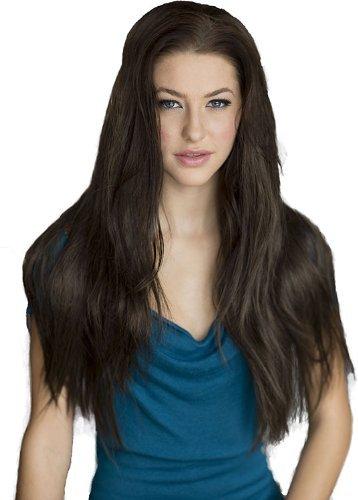 Annabelle de perruques Marron Longue Ligne droite 3/4 ou à moitié Perruque Postiche extension : Kimberly 250 g