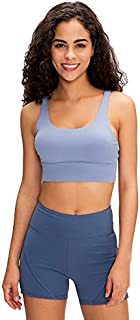 Sports Bra for Women, Sexy Cross Back Breathable Comfy Yoga Bras Top for Gym Yoga,Blue,4