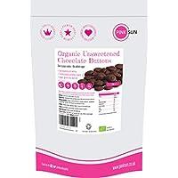 PINK SUN Chocolate sin Azúcar Orgánico 1kg (o 500g) 100% Masa de Cacao Para Cocinar Sólidos Puro Bio en Forma de Botón Pasta de Perú Organic Unsweetened Chocolate Buttons 1000g Bulk