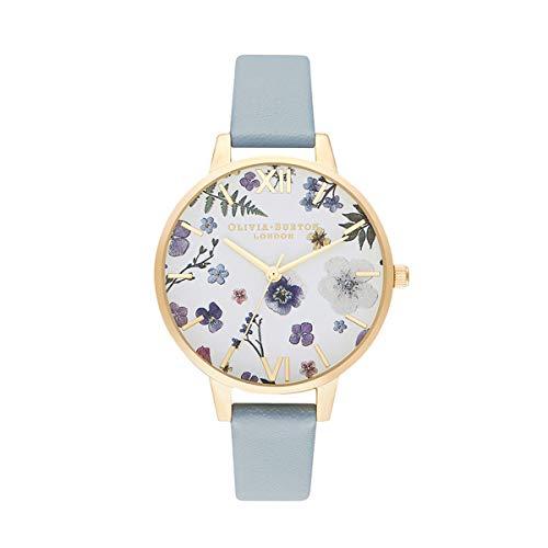 Olivia Burton Damen Analog Quarz Uhr mit Kunstleder Armband OB16AR08