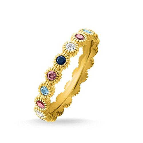 Thomas Sabo Ring Royalty Gold, Größe 60, Sterlingsilber und Steine, TR2225-959-7