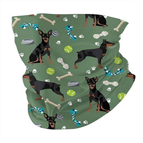 Nother Diseño de juguetes para perros, media bandana verde media pasamontañas, pañuelo multifuncional para la cabeza para deportes al aire libre