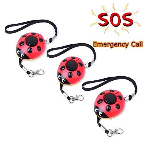 Find Discount Winnes 3 Pack Emergency Personal Alarm Self-Defense Alarm Ladybug-Shaped Safety Guard ...