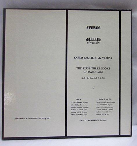 Carlo Gesualdo da Venosa: The First Three Books of Madrigals, Angelo Ephrikian