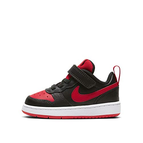 Nike Court Borough Low 2 (TDV), Sneaker, Black/University Red-White, 21 EU