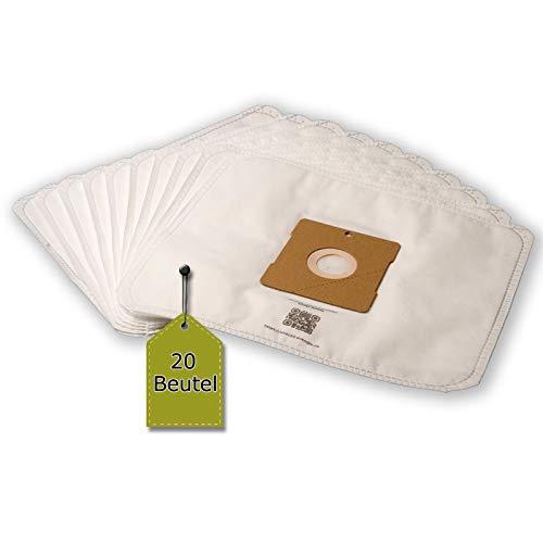 eVendix Staubsaugerbeutel passend für Nilfisk Bravo - Serie, 20 Staubbeutel + 2 Mikro-Filter, kompatibel mit Swirl Y201