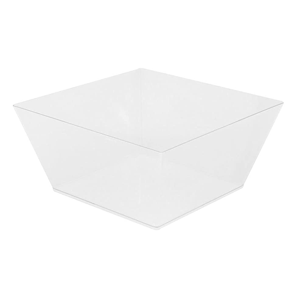Medium Modern Bowl - Square Clear Bowl - Perfect for Catered Events, Weddings, Parties, Banquets - 6.7