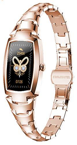 Pulsera Inteligente Reloj Inteligente Moda Para Mujer Relojes Encantadores Para Mujer Reloj De Pulsera Rastreador De Ejercicios Reloj Inteligente Pulsera Recordatorio De Llamada Bluetooth (Gold)