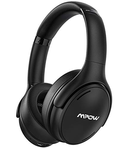 Mpow Casque Bluetooth à Réduction de Bruit, H19 IPO Casque Bluetooth Audio sans Fil avec CVC 8.0 Micro, 35 Heures Casque Stéréo HiFi, Charge Rapide Casque et Mode Filaire, pour Téléphone PC iPad TV