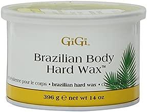 Gigi Tin Brazilian Body Hard Wax 14 Ounce (414ml) (2 Pack)