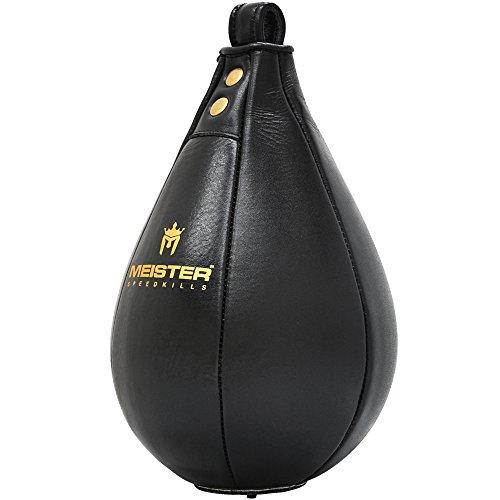 Meister SpeedKills Leather Speed Bag w/Lightweight Latex Bladder - Black - Large (10.5