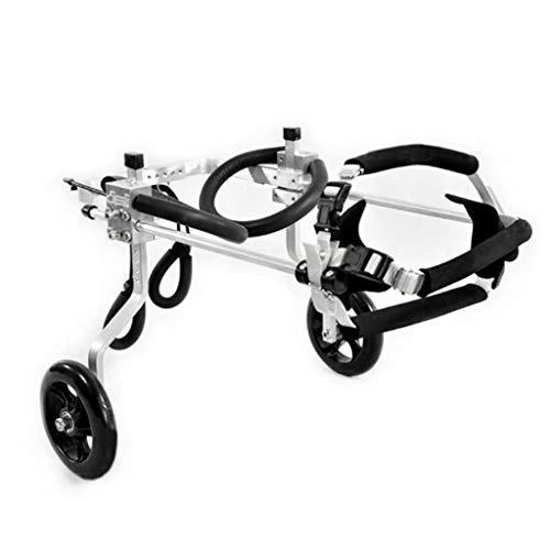 Hunderollstuhl Wheels Dog Wheelchair - Für die meisten Hunde 0-60 kg - Tierarztgeprüft - Rollstuhl für Hinterbeine - Für Hunde- / Hundehund Rollstuhl-Hinterbein Rehabilitation für Behindertenhund, 2-R