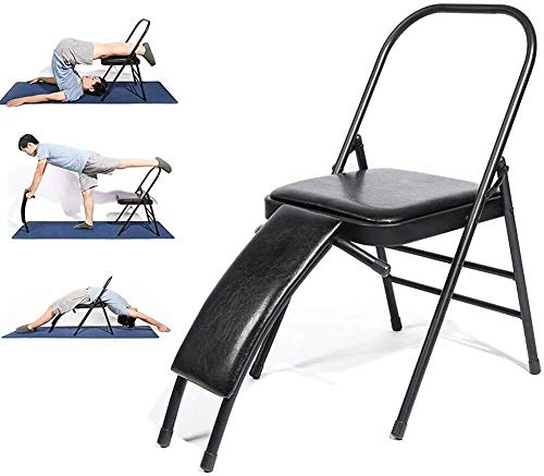 Review ZHWGS Yoga Chair Headstand Bench Yoga Chair with Lumbar Support,Foldable Yoga Inversion Chair...