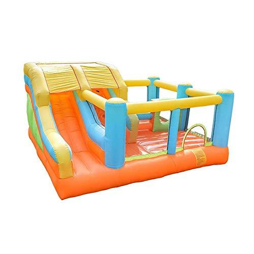 SGSG Castillos hinchables Castillo Inflable Grande Tobogán Equipo de Juegos para niños Equipo de Juego Interior Inflables y Castillo Hinchable