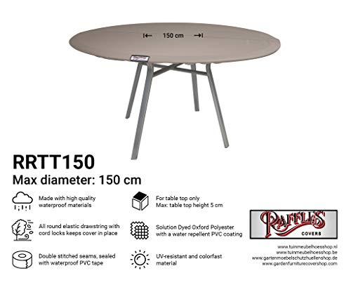 Raffles Covers NW-RRTT150 Weershoes voor ronde tafelbladen Ø 150 cm tuintafel tafelbladen afdekking tafelblad