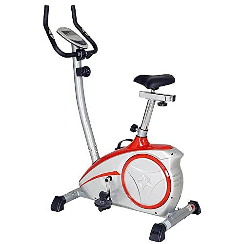 Verstellbarer Und Faltbarer Heimtrainer Mit Magnetischem Widerstand Stationäre Fahrräder, Aerobic-Heimtrainer, Spinning-Bikes, Heimtrainer, Sport Und Freizeit, Spinning-Bikes (Color : Red)