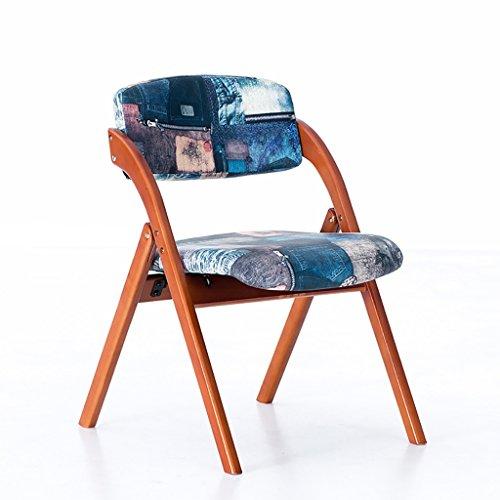 POPA faltstuhl Chair Home Massivholz Esszimmerstuhl/einfache Nordic Stuhl/moderner Stuhl kreative Freizeit Stuhl Klappstuhl holzklappstuhl (Farbe : A)