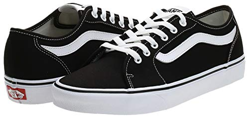 Vans Filmore Decon, Sneaker Uomo, Nero ((Canvas) Black/White 187), 42 EU