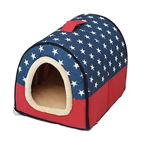 Casa De La Casa De La Casa De Gato Interior, Casa De Mascotas Más Gruesa Adecuada Para Una Casa De Campaña De Cama De Tamaño Pequeño Y Mediano, Déle A Su Mascota Una Casa Cálida ( Size : 35×30×27CM )