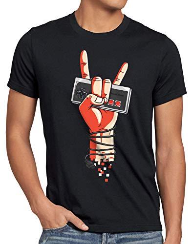 style3 Classic Rock Camiseta para Hombre T-Shirt NES Controller Mando 8-bit Game videoconsola, Talla:XL