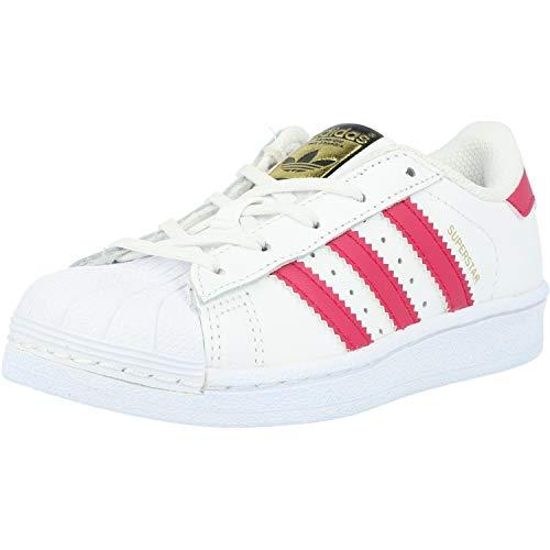 adidas Originals Superstar, Zapatillas Unisex Niños, Multicolor (Ftwbla/Rosfue/Ftwbla), 30.5 EU