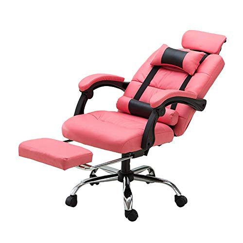 LORYLOLY Game Chair, Gaming-Sitze, Computer Office Chair Liegender Game Racing Sessellift E-Sports Chair-Pink