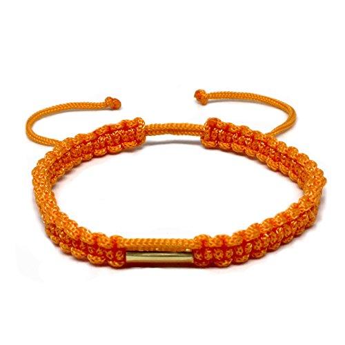 Hecho a mano budista tailandés pulsera latón amuleto bendición Karm