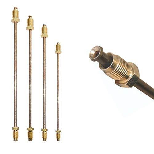 Tuyau de Frein Ø 4,75 mm en Cupro Nickel Cunife évasure double type E conduite de freins DIN 74 234 tuyaux des canalisations de freins 150mm - 3050mm choix: Longueur 475 mm