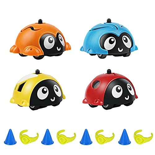 KANGDILE 4 PCS Spinning Top Toy Toy Insecto Insecto Toy Energia Battle Gyro Spiral Toy For Boys Girls Niños Regalo de cumpleaños