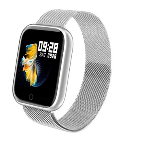 IPOTCH Smart Watch Orologio da Polso Activity Tracker 33mm Smartwatch Monitoraggio del Sonno - Argento