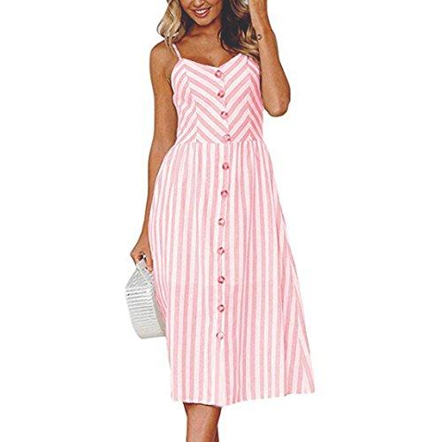 SANFASHION Bekleidung Damen SANFASHION 2019 V Ausschnitt A-Linie Kleid Träger Rückenfreies Kleider...