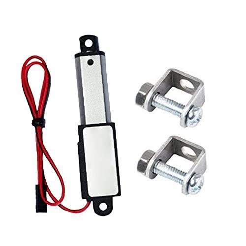 Mini actuador lineal Mini eléctrico impermeable con soportes de montaje 12V 60N Longitud del trazo 30 mm velocidad 15 mm Hardware industrial
