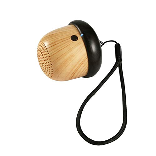 Portable ni Nut Speaker Wireless Speaker Cute Creative Speaker Gifts Nuts Wooded Speakers Super Bass Stereo Sound (wood color;) BCVBFGCXVB