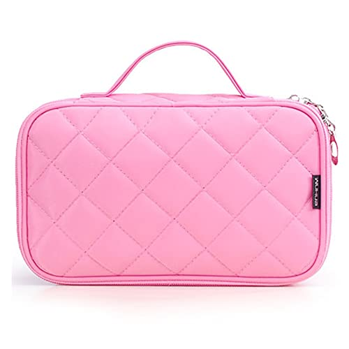 GLADMIN Bolsa de Maquillaje Bolsas Mujeres Grandes Impermeables Nylon Travel Cosmetic Bag Travel Organizer Case Prepare Maquillaje Bolso de baño (Color : Pink)