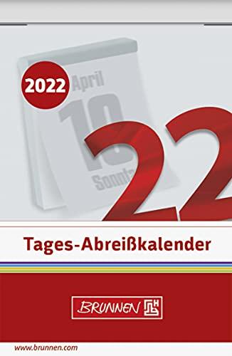 BRUNNEN 1070303002 Tages-Abreißkalender Nr. 3, 1 Seite = 1 Tag, 54 x 80 mm, Kalendarium 2022