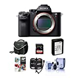 Sony a7R II Alpha Full Frame Mirrorless Digital Camera Body - Bundle with Camera Bag, 32GB Class 10 U3 SDHC Card, Spare Battery, Cleaning Kit, Memory Wallet, Pc Software Package