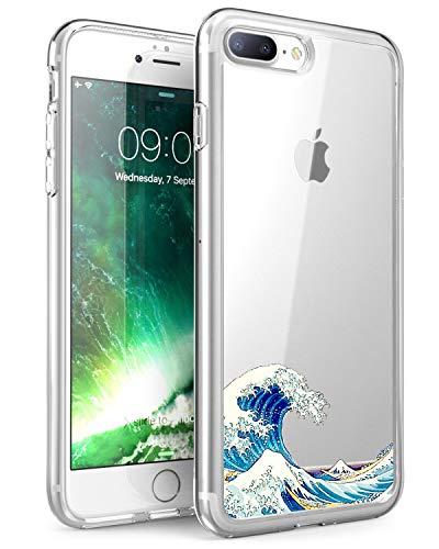Caler - Carcasa compatible para iPhone 7 Plus (poliuretano termoplástico), transparente y ultrasuave