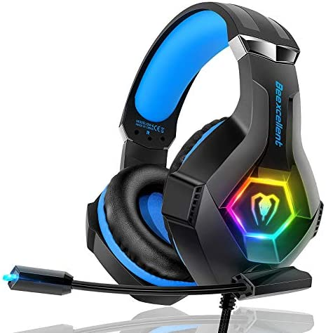 Gaming Headset PS4 Headset Pro 7 1 Surround Sound Noise Canceling Flexible Mic with 2pcs Mic product image