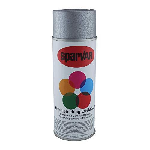SparVar 6003221 Lackspray Hammerschlag Silber, 400 ml